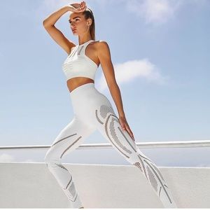 NUX Carbon38 Finesse Seamless Leggings White